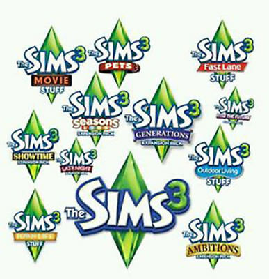 The Sims 3 + 7 DLC Collection (PC)  Digital Download Account