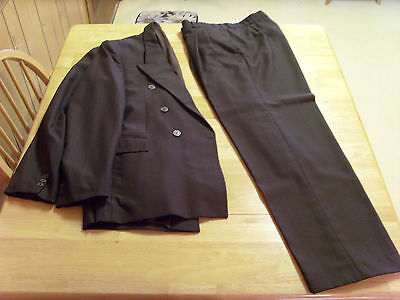 Alphan Turkish Double Breaseted Suit,Coffee Brown, 2 Piece,40R?, Made In Turkey