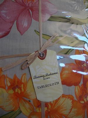 """NEW TOMMY BAHAMA AFRICAN 60"""" x 120"""" OBLONG TABLECLOTH & SET OF 4 NAPKINS"""