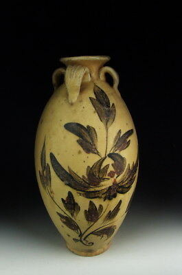Chinese Antique Cizhou Ware Brown&Red Colored Porcelain Vase