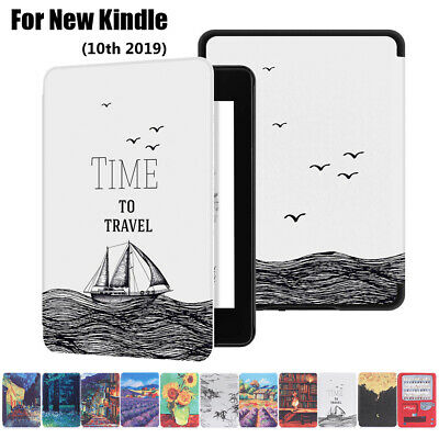 Ultra Slim Smart Case Leather Cover Shell For Amazon New Kindle 10th Gen 2019