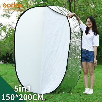 "GODOX 59""x79"" 150 x 200cm 5 in 1 Collapsible Large Oval Photography Reflector"
