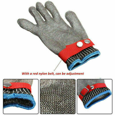Anti-Cut Proof Stab Resistant Stainless Steel Metal Mesh Glove Level 5 Protect