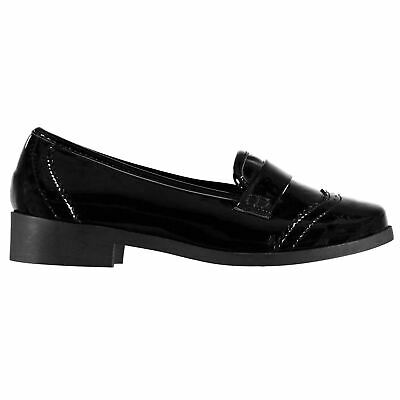 Miso Loafers Slip On Shoes Childs Girls Black Kids Footwwear