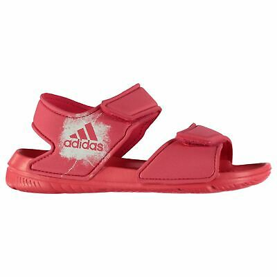 adidas Alta Swim Sandals Childs Girls Pink Flip Flop Thongs Beach Shoes