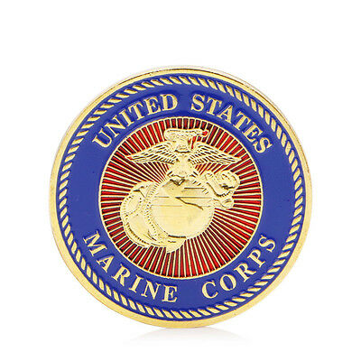 Gold Plated U.S. Marine Corps Core Force Recon Challenge Gift Commemorative Coin