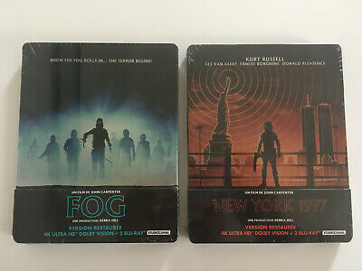FOG et NEW YORK 1997 BLU RAY STEELBOOK 4K JOHN CARPENTER VF NEUFS