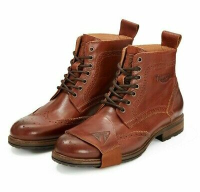 Brand New Genuine Triumph Hardwick Cruiser/Urban Brown Brogue Motorcycle Boot
