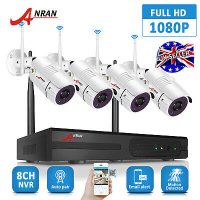 ANRAN NVR WIRELESS Home Security System 720P WIFI IP CCTV Camera