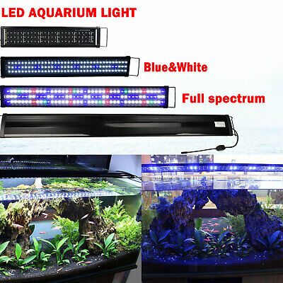 30-200CM Aquarium LED Lighting 1ft/2ft/3ft/4ft/5t/6ft Marine Fish Tank Light