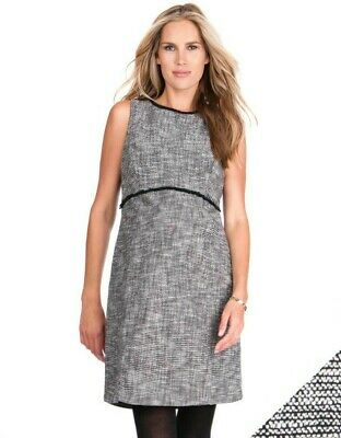 BNWT Black Woven Boucle Maternity Shift Dress UK size 18