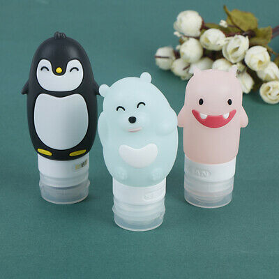 1X Penguin Empty Silicone Container Store Travel Packing For Lotion Bottle ^S