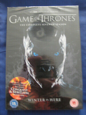 Game of Thrones Season 7 DVD The Complete 7th Series &Conquest and Rebell