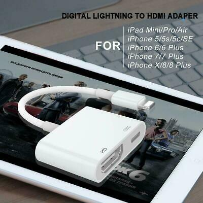 8 Pin Lightning To HDMI AV TV Cable Adapter For iPad Android iPhone 6 7 8 X XR