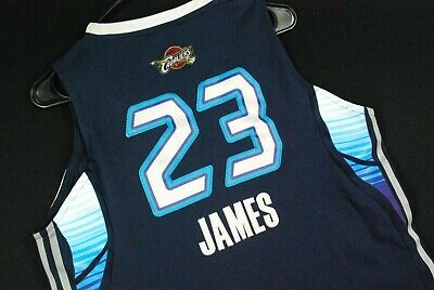 newest 2f617 5f0d5 LEBRON JAMES EAST All Star Game Jersey Basketball Blue Adidas Youth Boys L  Cavs
