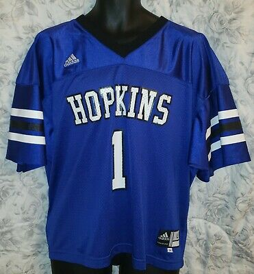another chance 2785f 77dff JOHNS HOPKINS BLUE Jays Blue Adidas Lacrosse Jersey EUC - Mens Large