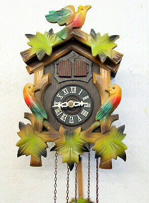 Old Cuckoo Wall Clock Black Forest wit Carillon music box