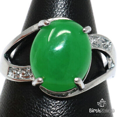 2.5 Ct Green Emerald Round Solitaire Halo Ring Engagement Wedding Size 7