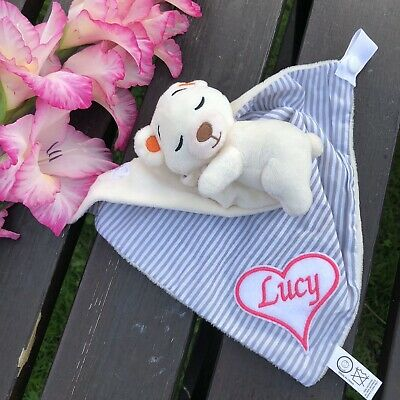 Baby comforters with dummy clip and attached teddy bear