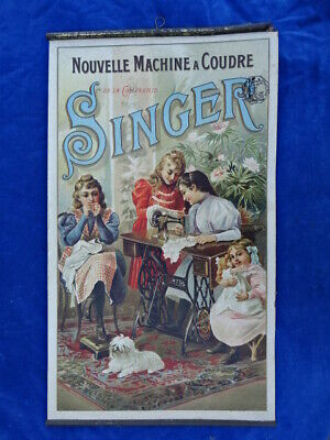 AFFICHE / Poster - SINGER - MACHINE A COUDRE / Sewing machine - RARE+++ !