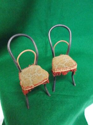 49MM 1895 DUTCH STERLING SILVER DOLL HOUSE MINIATURE CHAIR B//O HALLMARKED