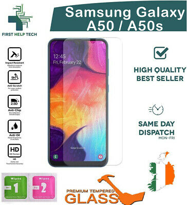 For Samsung Galaxy A50 Tempered Glass Premium Screen Protector Guard Film New