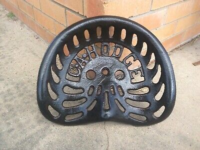 Vintage Tractor Seat C.a Hodge .. Cast Iron .. Rare !