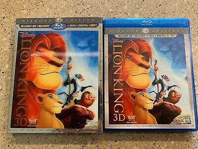 THE LION KING 3D BLURAY DVD Disc SET DIAMOND EDITION W/LENTICULAR SLEEVE