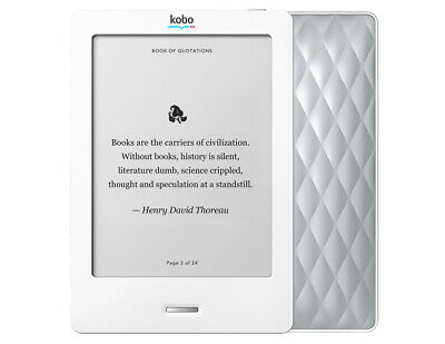 Kobo Touch E-Reader - 2GB, Wi-Fi, 6in - White/Pearl