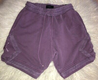 5a965d2361f New Men Nike Air Jordan Washed Diamond Fleece Shorts 939960-525 Grand  Purple $75