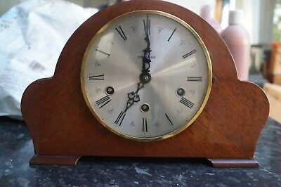 JUNGHANS. dual chime mantel clock.Westminster/Whittington.SEE VIDEO.