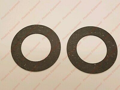 """2 PTO Clutch Friction Discs 6.28"""" OD X 4.00"""" ID X .127"""" Thick for Mower Rotary"""