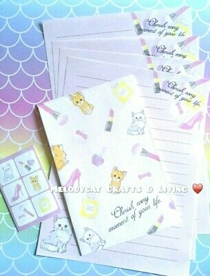 LETTER WRITING SET, PAPER ENVELOPES SEALS, Dogs! French