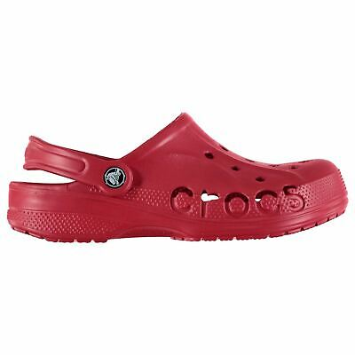 Crocs Baya Clogs Childs Boys Red Sandals Flip Flops Thongs Beach Shoes