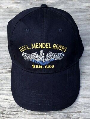 Made in USA USS Bergall SSN 667 BC Patch Embroidered Submarine Ball Cap