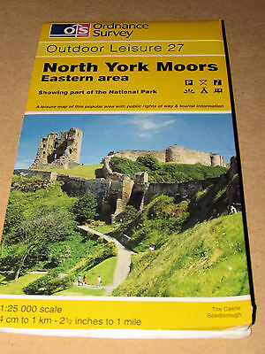 North York Moors: Eastern Area by Ordnance Survey (Sheet map, folded, 1986)