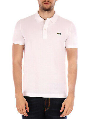 Lacoste polo shirt 1212 white for men, classic fit Lacoste 1212001 BLANC