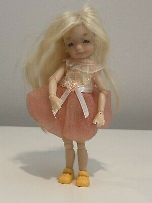 Tatjana's Tiny Kids (TTK) 11cm 'Nika' BJD - With Eyes, Wig, Dress, Shoes And COA