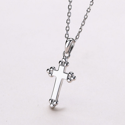 Real 925 Sterling Silver Cross Pendant Necklace Chain .925 SOLID SILVER Jewelry