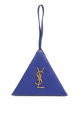 81979994cea Saint Laurent Pyramid Bag Clutch Wristlet Box 533469 Purple Blue Lambskin -  NWT