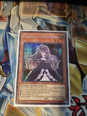 Ghost Belle & Haunted Mansion Secret Rare FLOD-EN033 Near-Mint Unlimited Edition