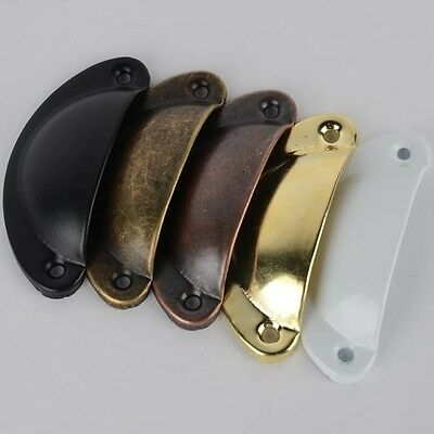 12X  Kitchen Cupboard Door Cabinet Cup Drawer Bronze Shell Pull Handle Furniture