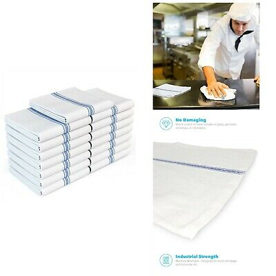 White Cotton Kitchen Towels Flour Sack Towel Ultra Absorbent 15 Pack Dish Cloths