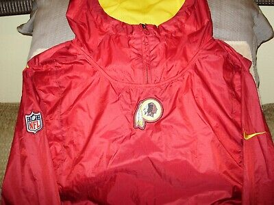 76f688842 NFL Washington Redskins Nike Fly Rush Pullover Hoodie Golf Wind Jacket Men's  LGE