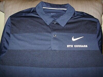 best website fce0c e531e BYU Brigham Young Cougars NIKE Dri Fit Cool Striped Polo Golf Shirt Men s  2XL