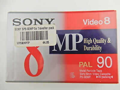 SONY P5-90MP3 Video 8 PAL 90 Metal Particle tape BRAND NEW and Sealed