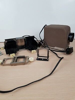Vintage Minolta Mini 35 Slide Projector with Accessories Not tested - parts only