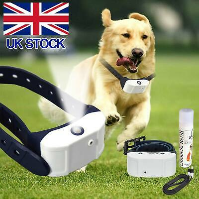 Anti Bark Pet Train Mist Spray Stop Barking Citronella Rechargeable Dog Collar