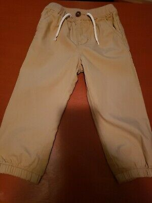 Pre-owned TODDLER BOYS BABY GAP KHAKI BEIGE CHINO PANTS SIZE 18-24 MONTHS