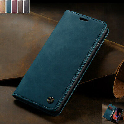 For Samsung Galaxy S10 5G Retro Magnetic Flip Leather Wallet Stand Case Cover